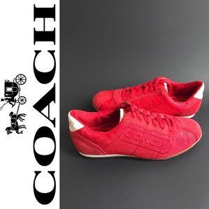 COACH PATTI Red Sneaker Shoe Size 5.5M